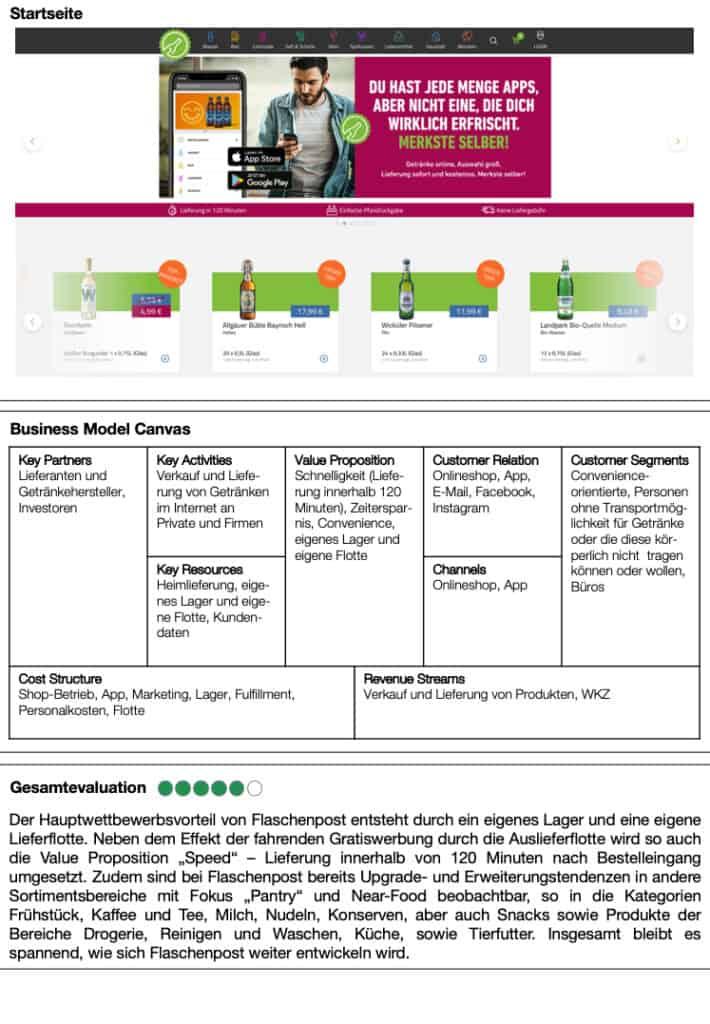 """Case Study Flaschenpost aus """"Das E-Food Buch"""" von Dr. Matthias Schu https://amzn.to/3nuL1yf"""