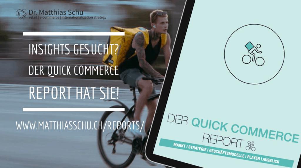 Studie Report Quick Commerce Dr. Matthias Schu